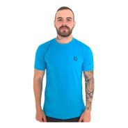 Camiseta Basic Lobo Azul Turquesa C016