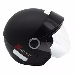 Capacete Motociclista Ebf Shield Aberto Preto Fosco