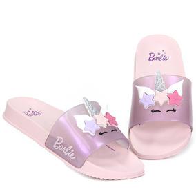 Chinelo Slide Infantil Grendene Barbie - Rosa