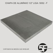 Chapa De Alumínio 5052 - F  1/2  X  500mm X 1000mm