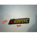 Emblema Akrapovic 9cmx2,5cm Para Escape De Moto 2 Emblemas