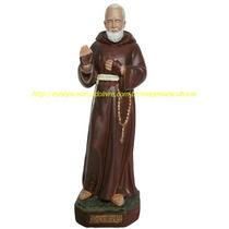 Escultura Santo Padre Pio 15cm Linda Imagem Promoção No Ml