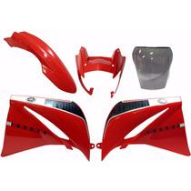 Kit Xt660 Vermelha Aba + Paralama + Frontal + Bolha