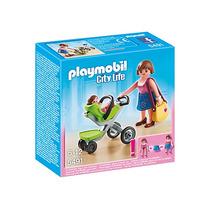 Playmobil 5491 Mamá Y Bebé Con Carreola Centro Comercial Pmt