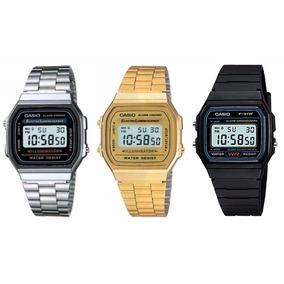 Reloj Casio Retro Vintage Oro Plata Calculadora Hombre Mujer
