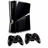 Xbox 360 Slim 250 Gb,2 Controles Inalámbricos ( O Contactar