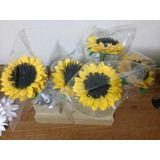 Kit 10 Canetas Personalizadas Com Flores Em Eva