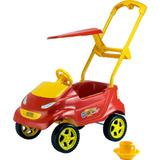 Carrinho Passeio P/bebê Baby Car Vermelho Xplast