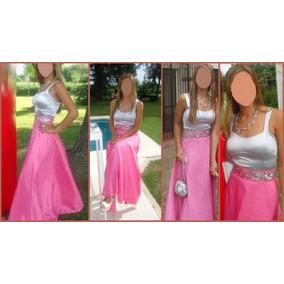 Vestido Egresada Fiesta 15 Años Conjunto Top Y Pollera Larga