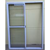 Puerta Ventana Balcon Aluminio Blanco Vidrio Entero 150x200