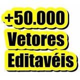 Kit 50 Mil Vetores Para Adesivos Camisas Sublimação E Etc