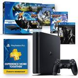 Playstation4 + 3 Juegos Fisicos Hits + Psn Card + Envios