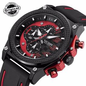 Relógio Masculino Original Megir Racer Presente Social