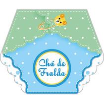 20 Un Convite Chá De Fraldas Menino Azul - Carta Registrada