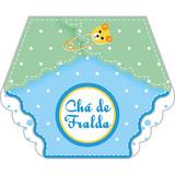 20 Un Convites Chá De Fraldas Menino Azul - Carta Registrada