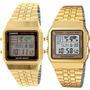 Reloj Casio A-500wga Gold Retro Crono Resistente Al Agua