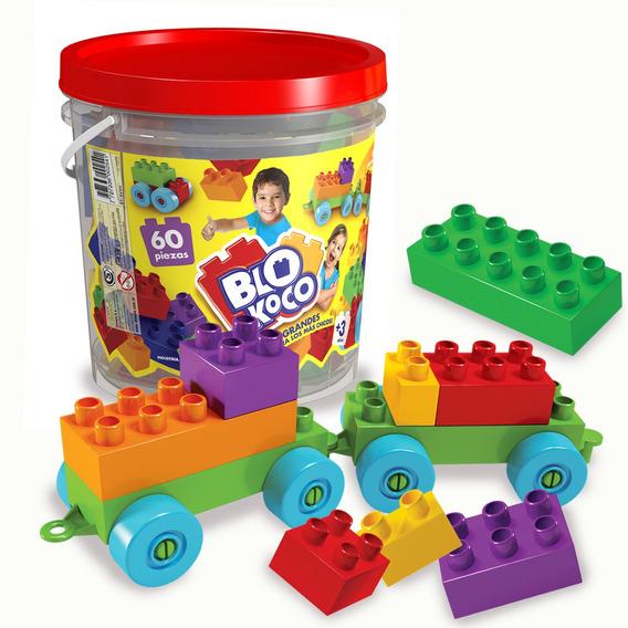 Blokoco Bloques Grandes Tipo Rasti Con 60 Piezas Original