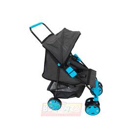 Carrinho De Bonecas Milano Azul Bebê Reborn - Oliveira