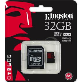 Cartão Memória Micro Sd Kingston 32gb + Adpt. Cl 10 Sdca3