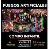 Combo Infantil Fuegos Artificiales Pirotecnia 441 Art. C & P