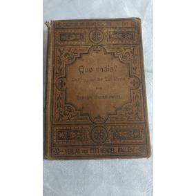 Livro Quo Vadis? De H.sienkiewicz Em Alemão Leia A Descrição