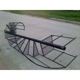 Escalera Caracol Hierro Rejilla Metal Desplegado 3m X 60cm