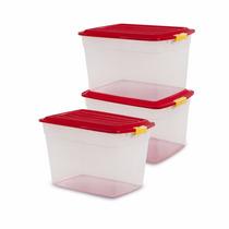 Caja De Plástico Col Box 34 Lts X3 Colombraro