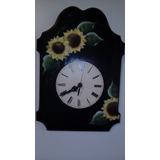 Hermoso Reloj De Cocina Artesanal En Madera