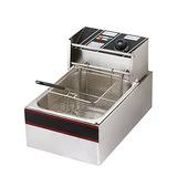 Flexzion Electric Deep Fryer Tanque 2500w 6l Litro Cesta De