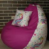 Puff Niñas Motivos Unicornio Hello Kitty Oferta!