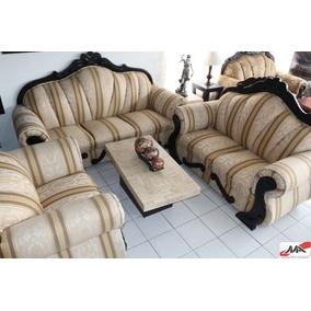 Sala Clasica Moldura Labrada Sofa Love Y Sillon No.78