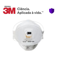 20 Máscara Valvulada 3m Pff2 Aura 9322 N95 - C/ Nota Fiscal
