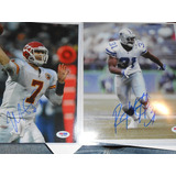 Nfl Autografos Matt Cassel Y Roy Williams Cowboys Chiefs Psa