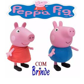 Peppa Pig Ou George Pig Multibrink Boneca Original