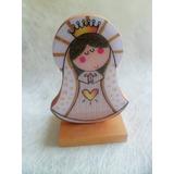 Recordatorio Primera Comunión Virgen En Madera