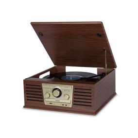 Vitrola Raveo Sonata Bivolt Madeira C/bluetooth Usb E Rádio