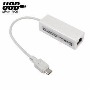 Adaptador Convertidor Micro Usb 2 A Red Lan Ethernet 10/100