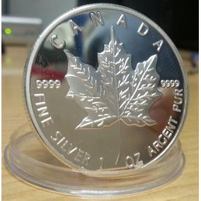 Moeda Canadá 2013 Banhada Em Prata .999 1 Oz Réplica