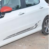 Adesivo Faixa Lateral Tuning M1 Porta Carro Peugeot 308 Top