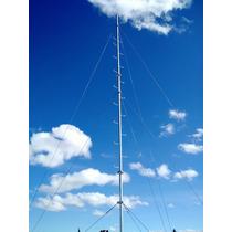 Torre Mastil Arriostrado-galvanizado En Caliente