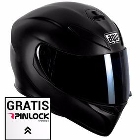 Casco Agv K3 Sv Chas Solid Negro Mate Doble Visor Fas Motos