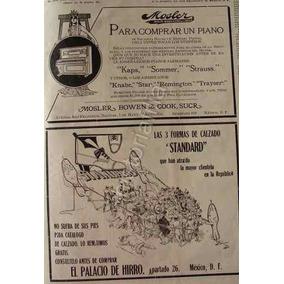 Publicidad Antigua 1912 Casa Mosler Bowen Y Palacio D Hierro