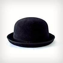 M - Chapéu Chaplin Coco 3,5cm De Aba Preto
