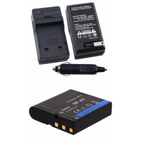 Kit Bateria Np-40 + Carregador Para Kodak Az521 Az522 Az501