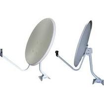 Kit Com 2 Antena Banda Ku 60cm Lnb Simples