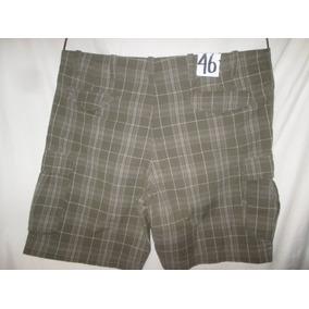 Shorts Bermuda De Cuadros Verde-gris Talla 46 Arizona