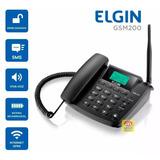 Kit Telefone Celular Rural Fixo Dual Chip Elgin + Antena