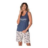 Pijama Bermudoll Borboleta Demillus 220344 Malha E Viscose
