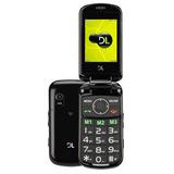Celular Dl Yc130 Preto - Tela 2.4, Dual Chip, Câmera E Fm