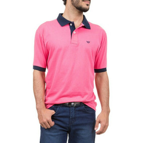 Camisa Pólo Masculina Branca Ou Pink Empório Colombo